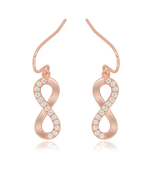 mothers-day: Silver Infinity RG Pave Drop Earrings!