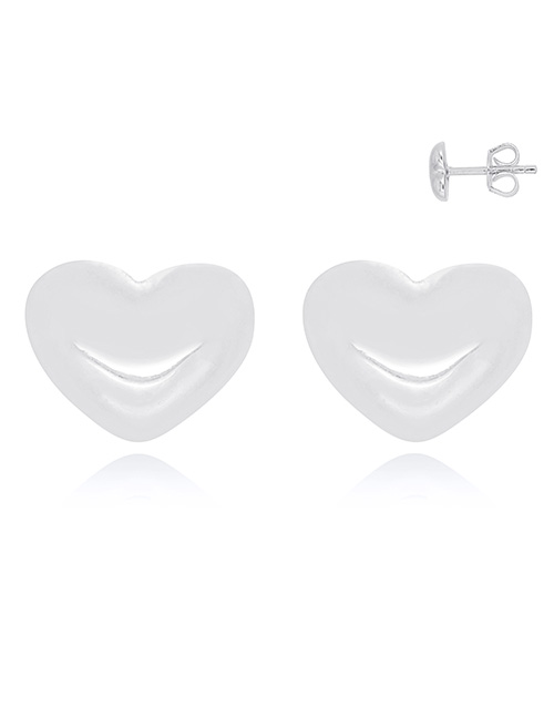 valentines-day: Silver Heart Studs!
