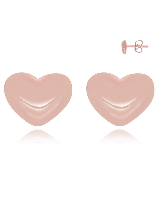 earrings: Silver Rose Heart Studs!