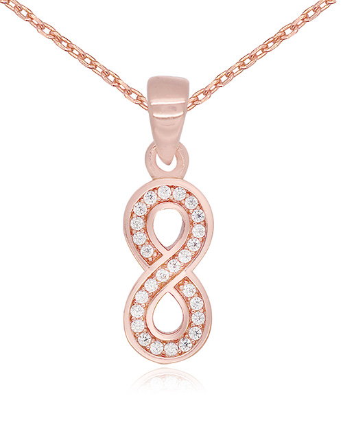 mothers-day: Silver Cubic Rose Infinity Necklace!