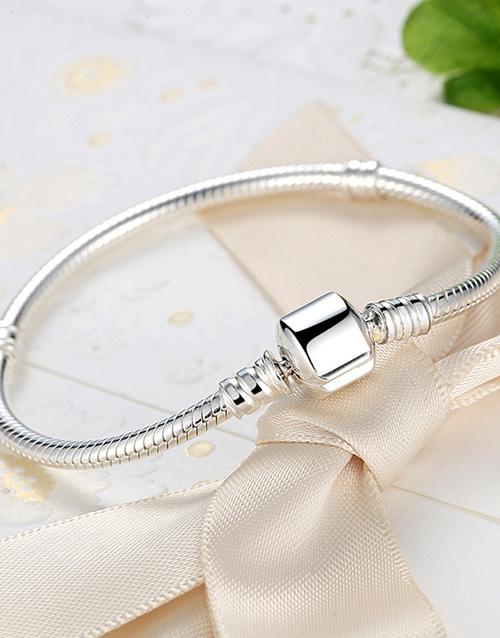 mothers-day: Silver 925 Snake Charm Bracelet!