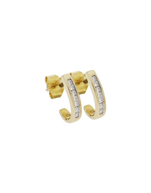 diamond: 9KT YG 0.15ct Medium Hoop Earrings!