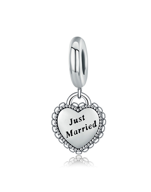 pandora: Silver 925 Heart Just Married Dangle Charm!