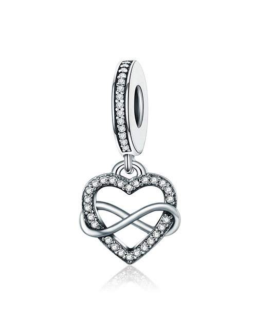 pandora: Silver 925 Heart and Infinity Cubic Dangle Charm!