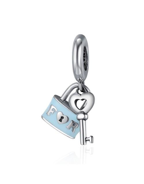 pandora: Silver Key and Padlock Enamel Charm!