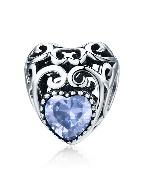 pandora: Silver Filigree Heart June Birthstone Charm!