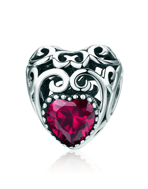 pandora: Silver Filigree Heart July Birthstone Charm!