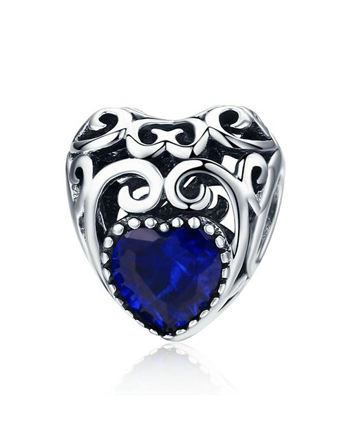 pandora: Silver Filigree Heart September Birthstone Charm!
