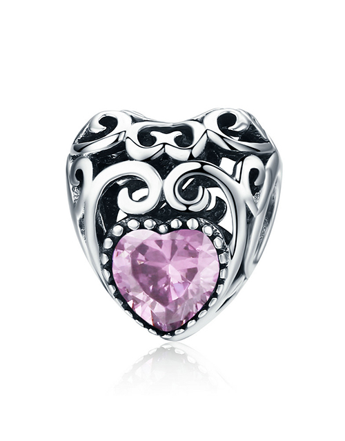 pandora: Silver Filigree Heart October Birthstone Charm!