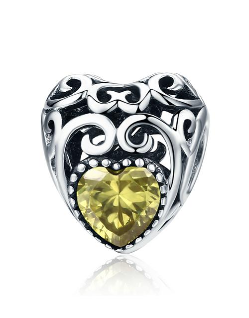 pandora: Silver Filigree Heart November Birthstone Charm!