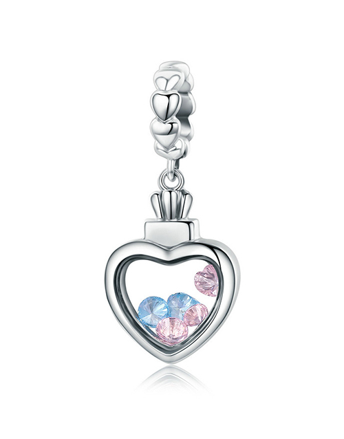 pandora: Silver Heart Dangle Charm With Cubic's!