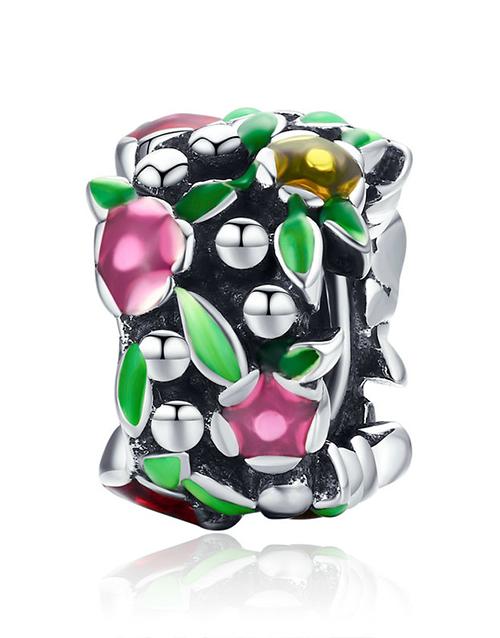 pandora: Silver Colourful Enamel Floral Charm!