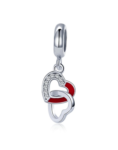pandora: Silver Dangle Linking Open Hearts Charm!