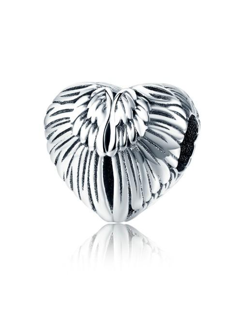 pandora: Silver Heart Angle Wing Charm!