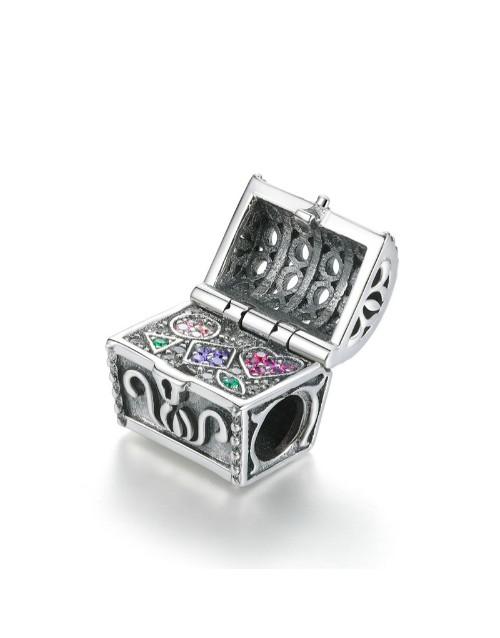 pandora: Silver Treasure Chest Charm!