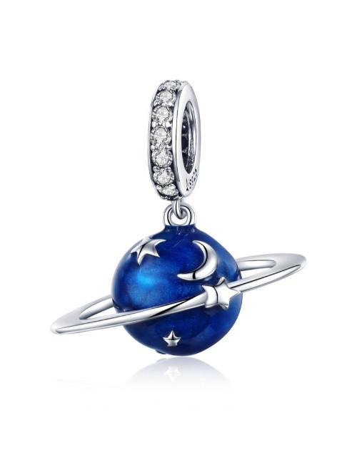 pandora: Silver Blue Enamel Galaxy Charm!