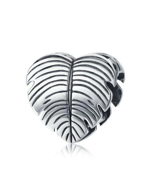 pandora: Silver Heart Feather Design Charm!