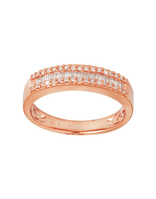 rings: 9KT Rose Gold Diamond 0,10ct Ring!