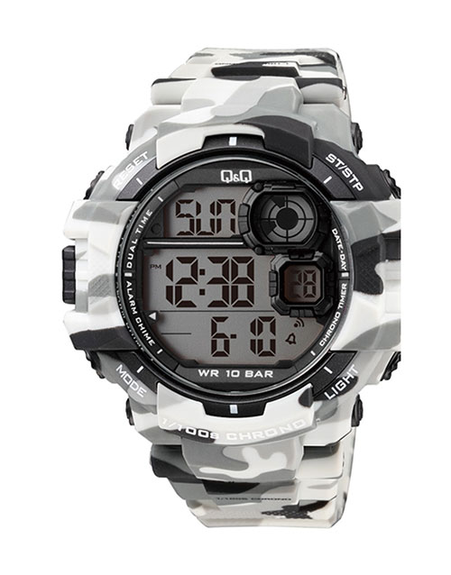 grandparents-day: QQ Gents Grey Army Digital Watch!