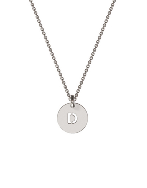 memi: Memi Personalised Mini Round Disk Shape Necklace!