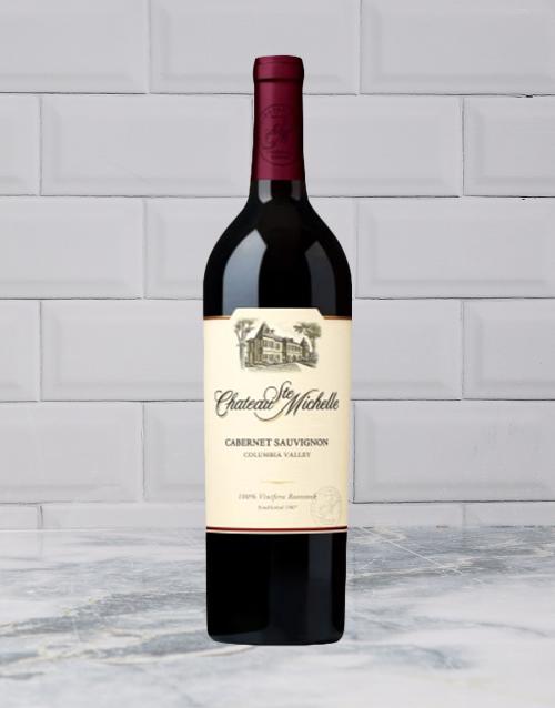 wine: CHATEAU STE MICHELLE CABERNET SAUVIGNON 750ML X1!