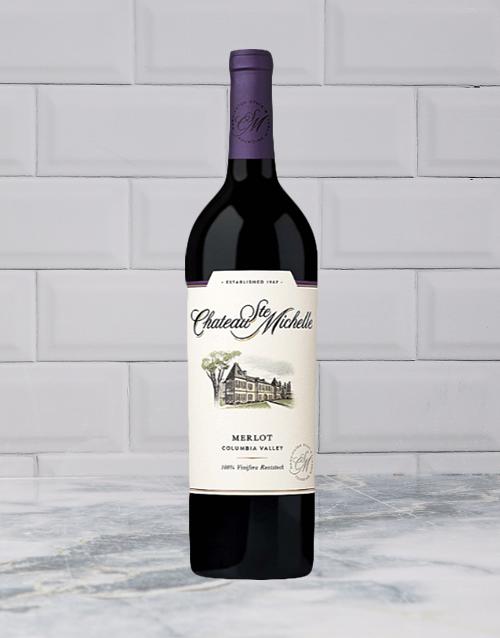 wine: CHATEAU STE MICHELLE MERLOT 750ML X1!