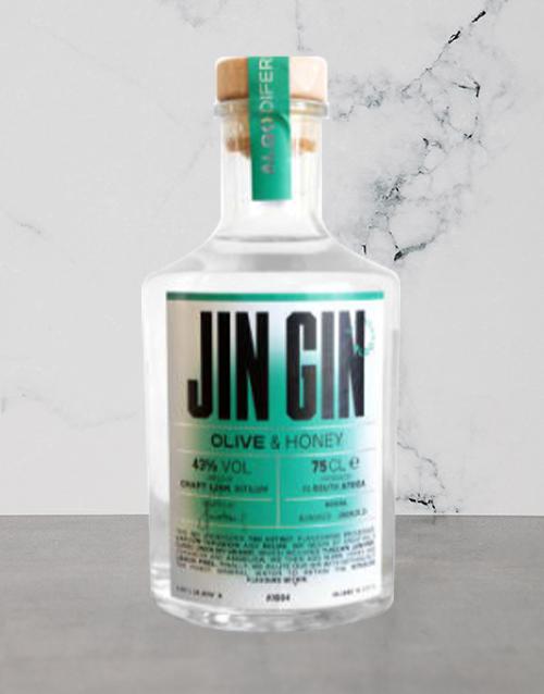 spirits: JIN GIN OLIVE & HONEY GIN 750ML X1!
