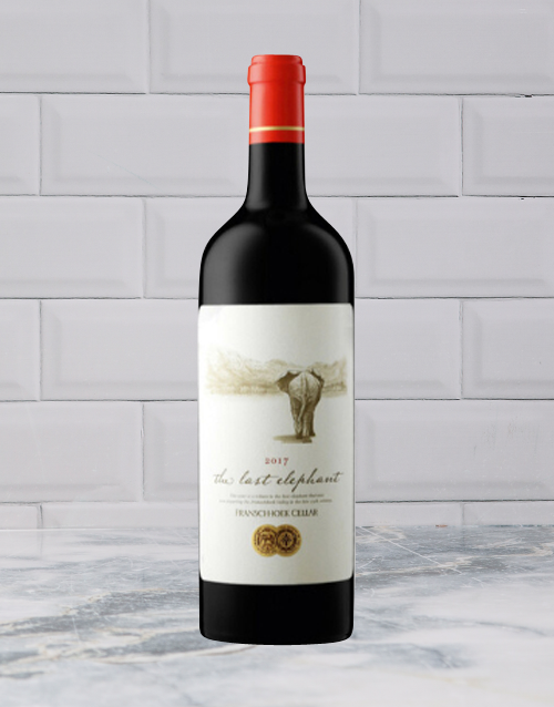 wine: FRANSCHOEK THE LAST ELEPHANT RED BLEND 750ML X1!