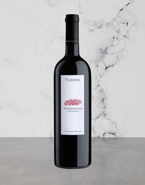 wine: PODERNUOVO THERRA 2012 750ML X1!