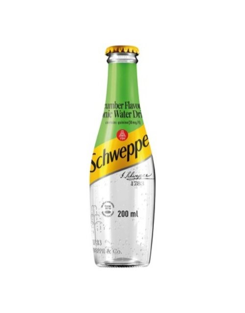 mixers: SCHWEPPES CUCUMBER TONIC GLASS 200ML!