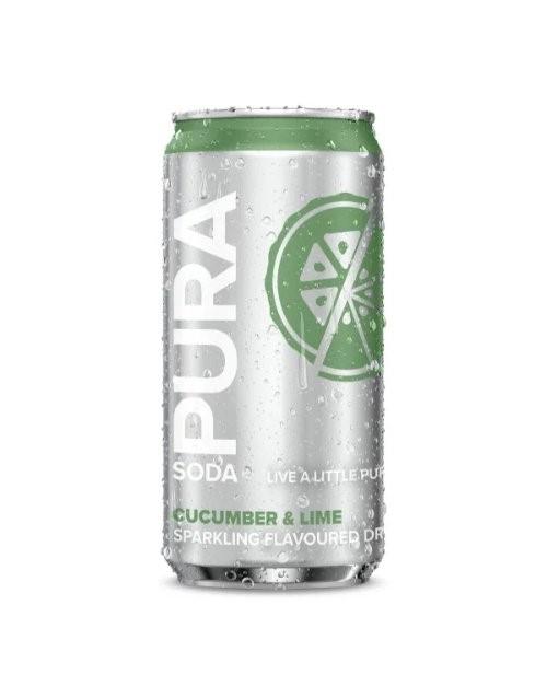 mixers: PURA SODA CUCUMBER & LIME 330ML!