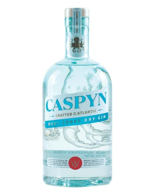 spirits: CASPYN WEST COAST DRY GIN 750ML !