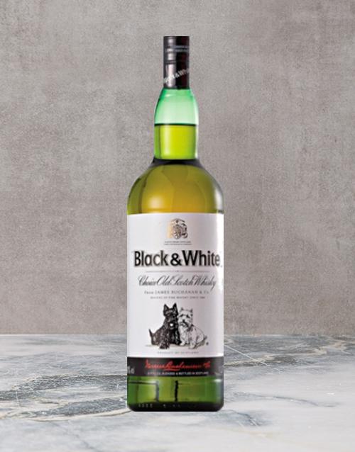 spirits: Black & White Whisky 750Ml!