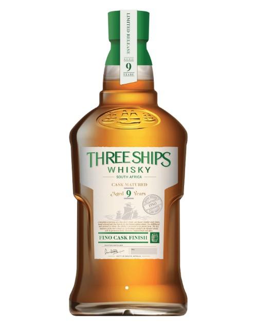 spirits: THREE SHIPS 9YR FINO CASK WHISKY 750ML !