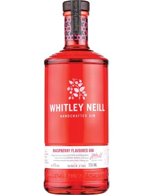 spirits: WHITLEY NEILL RASPBERRY GIN 750ML !