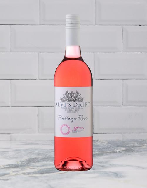wine: ALVIS DRIFT PINOTAGE ROSE 750ML X1!