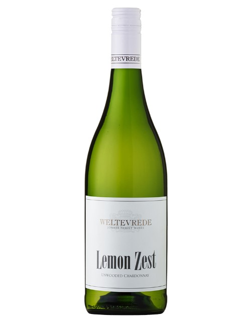 wine: WELTEVREDE LEMON ZEST CHARDONNAY 750ML X1!