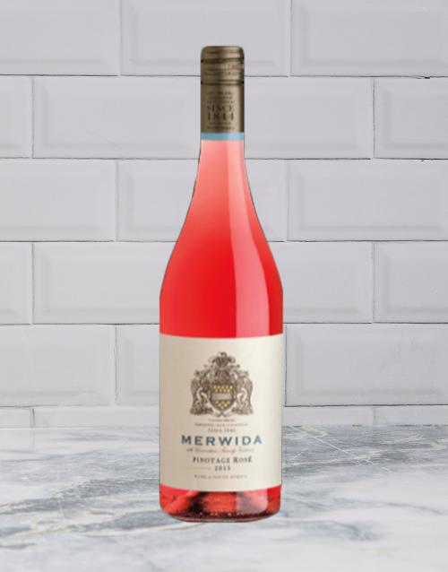 wine: MERWIDA PINOTAGE ROSE 750ML X1!