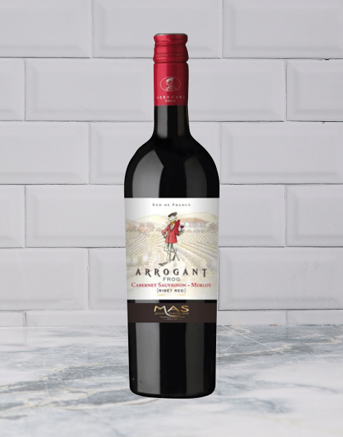 wine: ARROGANT FROG CABERNET MERLOT 750ML X1!