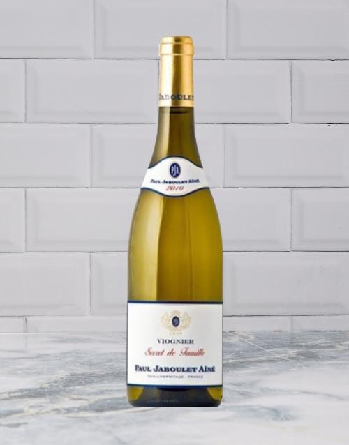 wine: P JABOULET A SECRETS FAM VIOGNIER 750ML X1!