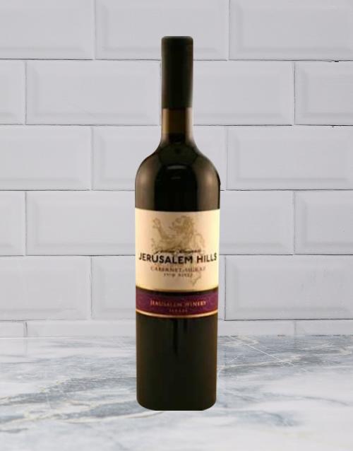 wine: JERUSALEM HILLS CAB SHIRAZ 750ML X1!