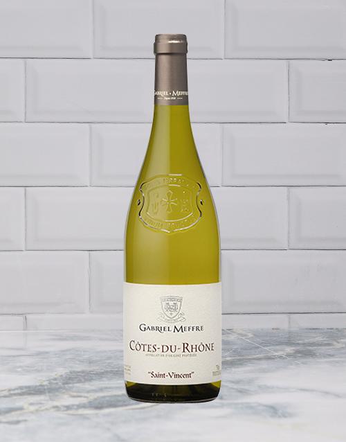wine: GABRIEL MEFFRE COTES DU RHONE BLANC 750ML X1!