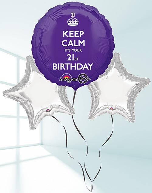 balloon: 21st Birthday Balloon Bouquet!