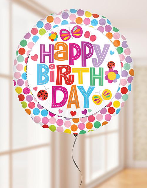 balloon: Happy Birthday Flower Balloon!