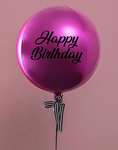 balloon: Metallic BrightPink Celebrations Balloon Gift!
