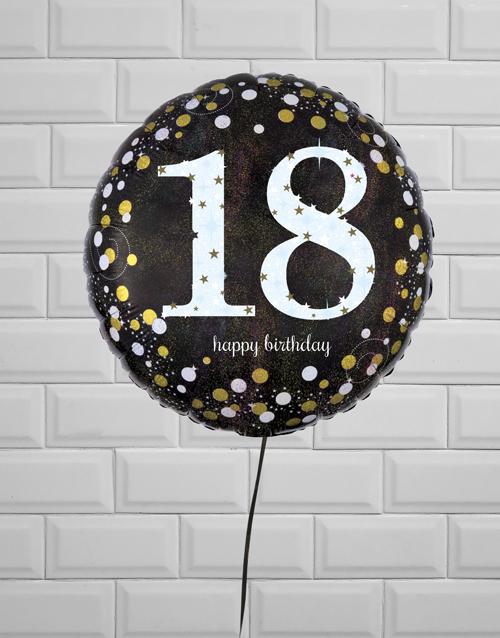 birthday: Ecstatic Eighteenth Birthday Balloon!
