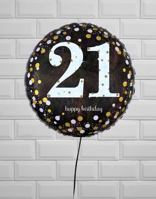 balloon: Terrific Twenty First Birthday Balloon!