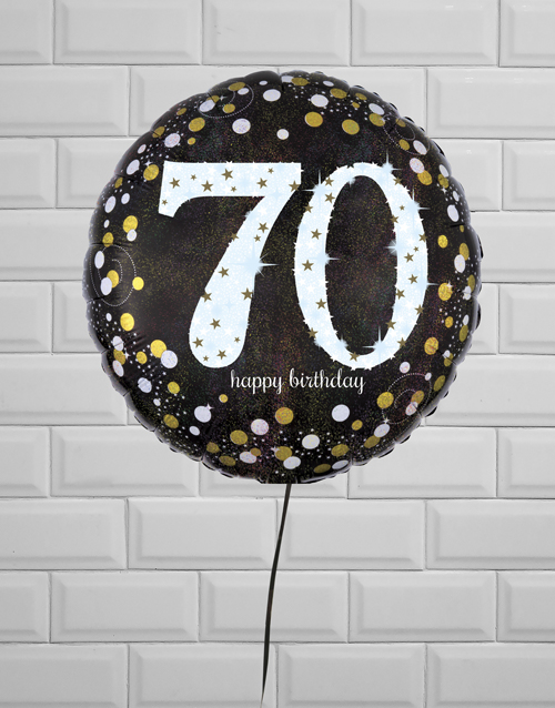 birthday: Successful Seventieth Birthday Balloon!