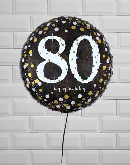 balloon: Blissful Eightieth Birthday Balloon!