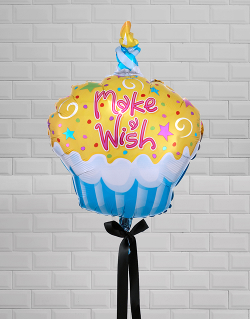 balloon: Make A Wish Cupcake Balloon Gift!